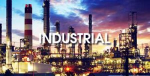 "A refinery with the word ""Industrial"""
