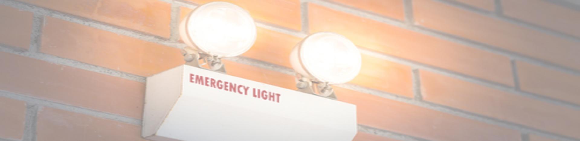An emergency light.